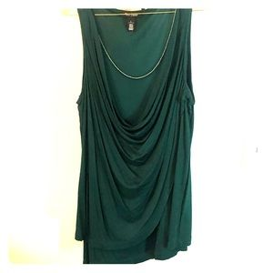 Emerald green dressy top with bling!